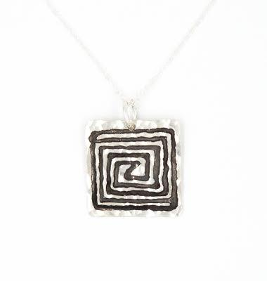 PEBBLE + ROSE US Artisan Jewelry - Sacred Spiral Necklace by Annie Diehl