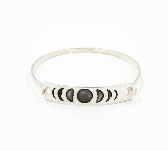 Jewelry - Silver Moon Phase Bangle
