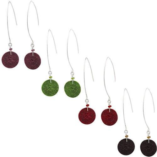 PEBBLE + ROSE Artisan Jewelry - Sisal Color-Drop Earrings