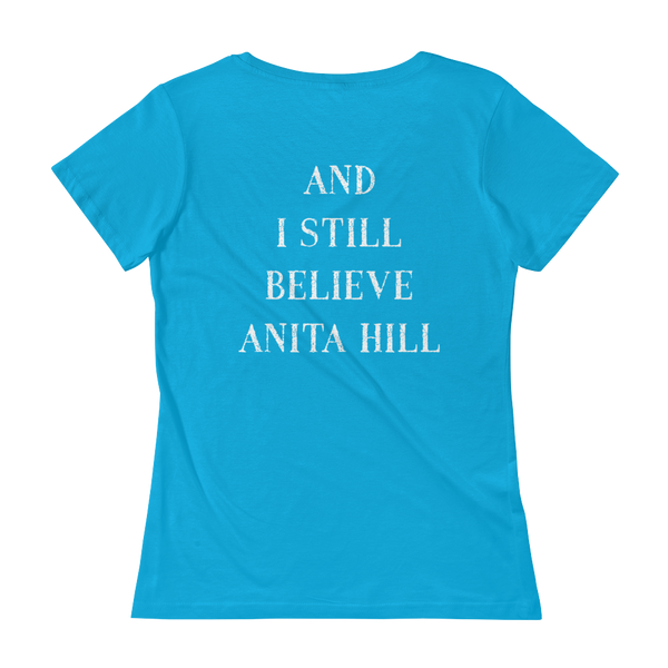 pebble and rose I stand with christine shirt and I still believe anita hill back side aqua