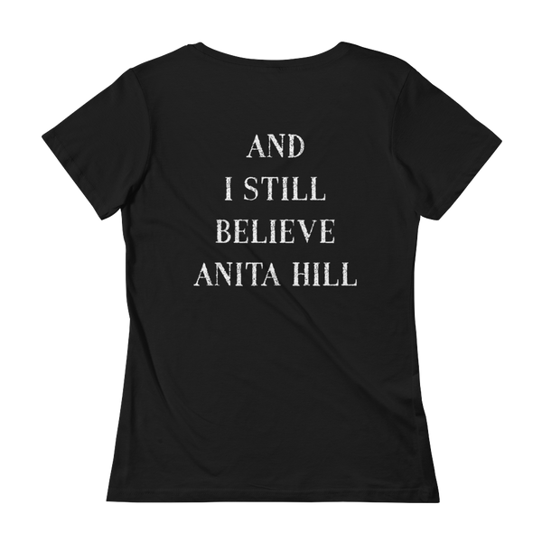 pebble and rose I stand with christine shirt and I still believe anita hill back side black