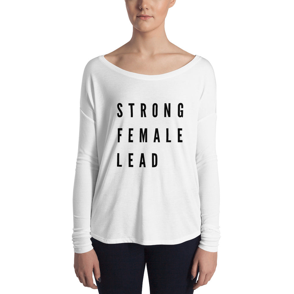 Pebble and Rose Strong Female Lead shirt long sleeves in white