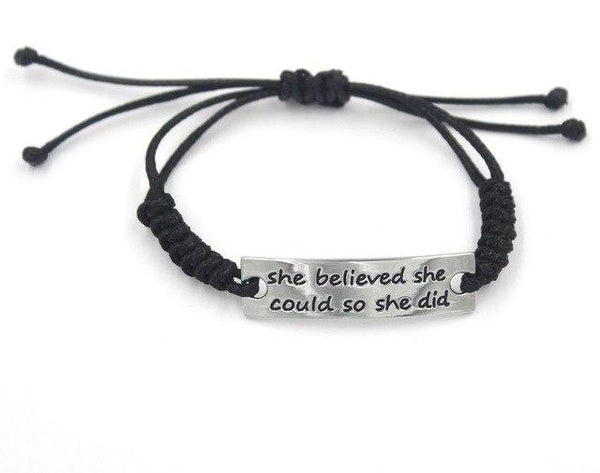 She Believed She Could Friendship Bracelet - Ships FREE