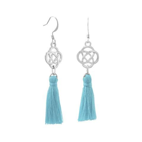Silver Tone Tassel Fashion Earrings