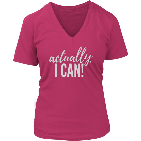 PEBBLE + ROSE Actually I Can T Shirt for Strong Women in Red