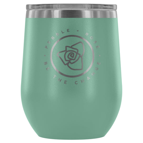 Wine Tumbler - PEBBLE + ROSE Signature Wine Tumbler - Ships FREE