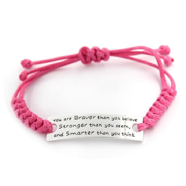 You Are Braver Than You Believe Bracelet - FREE Shipping