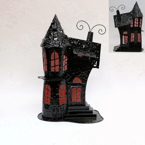"""Haunted Mansion"" Halloween tea light holder"