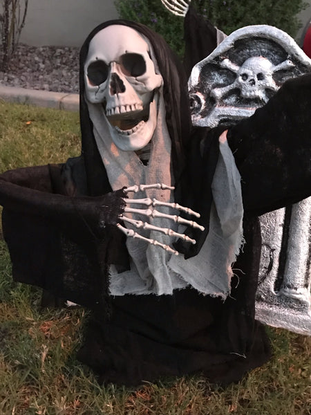 """Sister Skelter""- The Grave Yard Shift Collection- Outdoor Halloween Decoration"