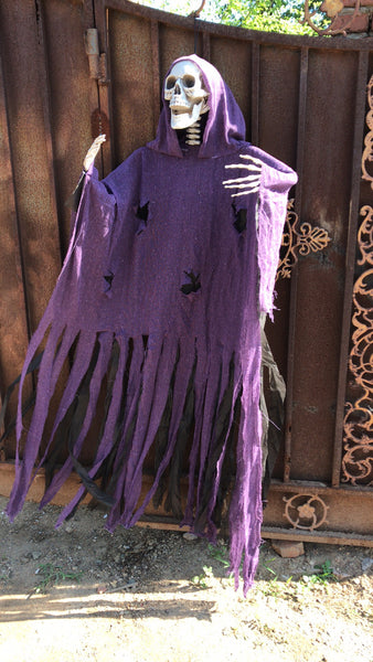 """The Purple Phantom""-Catacomb Collection- five foot hanging Halloween skeleton"