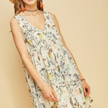 Floral Dress Off White