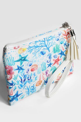 Sea Life Zipper Clutch