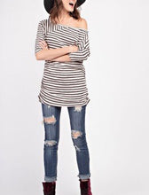 Striped Knit with Ruched Sides
