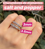 Media Churumbela Diamante Salt and Pepper 3mm (6 piezas disponibles)