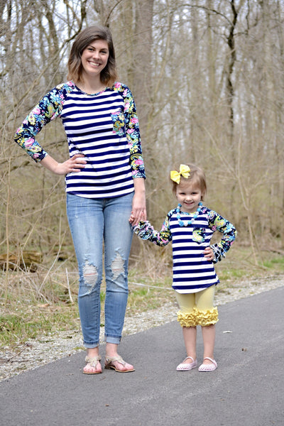 Mommy and Me stripes and floral  (women's)