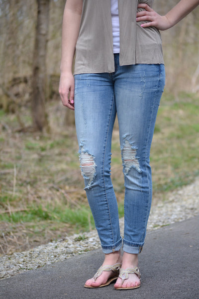 Xiley distressed jean