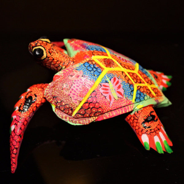 Oaxacan Carved Wood 3328---Heart Sea Turtle