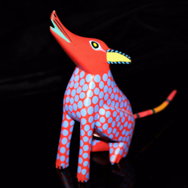 Oaxacan Carved Wood 3333---Little Red Dog