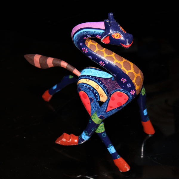 Oaxacan Carved Wood 3346--Dancing Giraffe