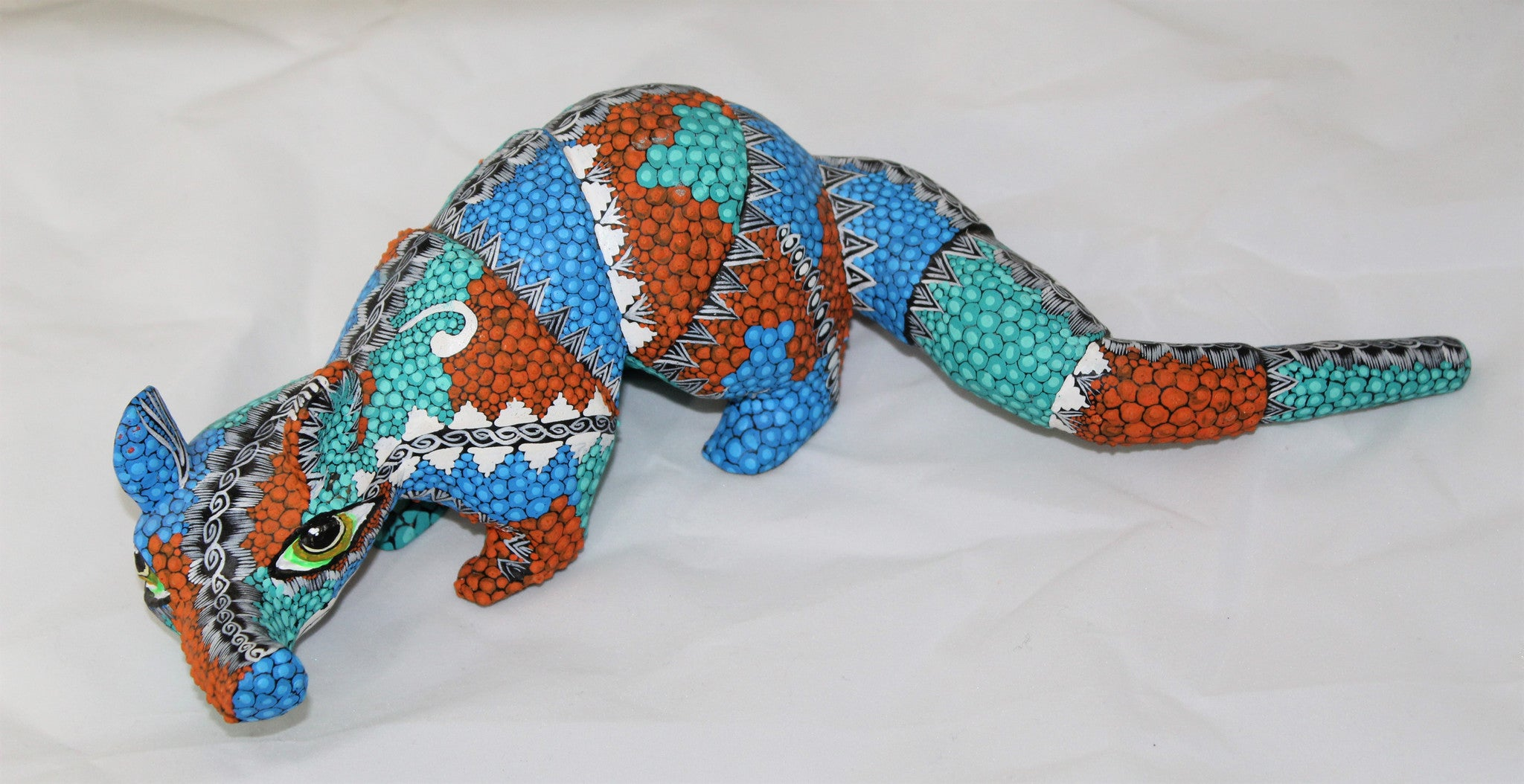 Oaxacan Carved Wood 3316--Tribes Mixes Snootful Armadillo