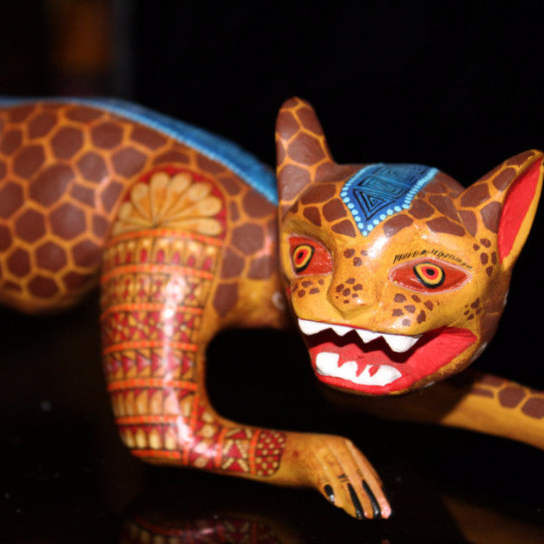 Oaxacan Carved Wood 3340--Jaguar Creeper