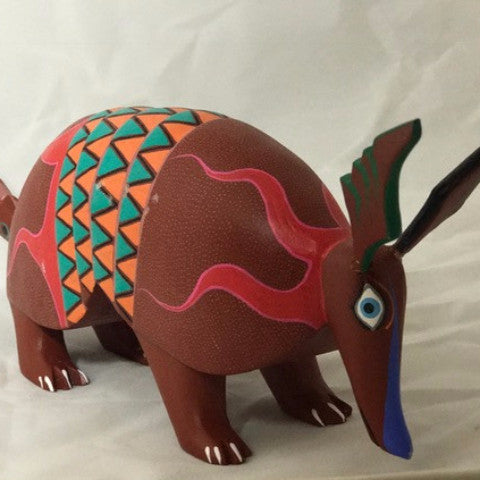 Oaxacan Carved Wood 3336--Speedy Armadillo