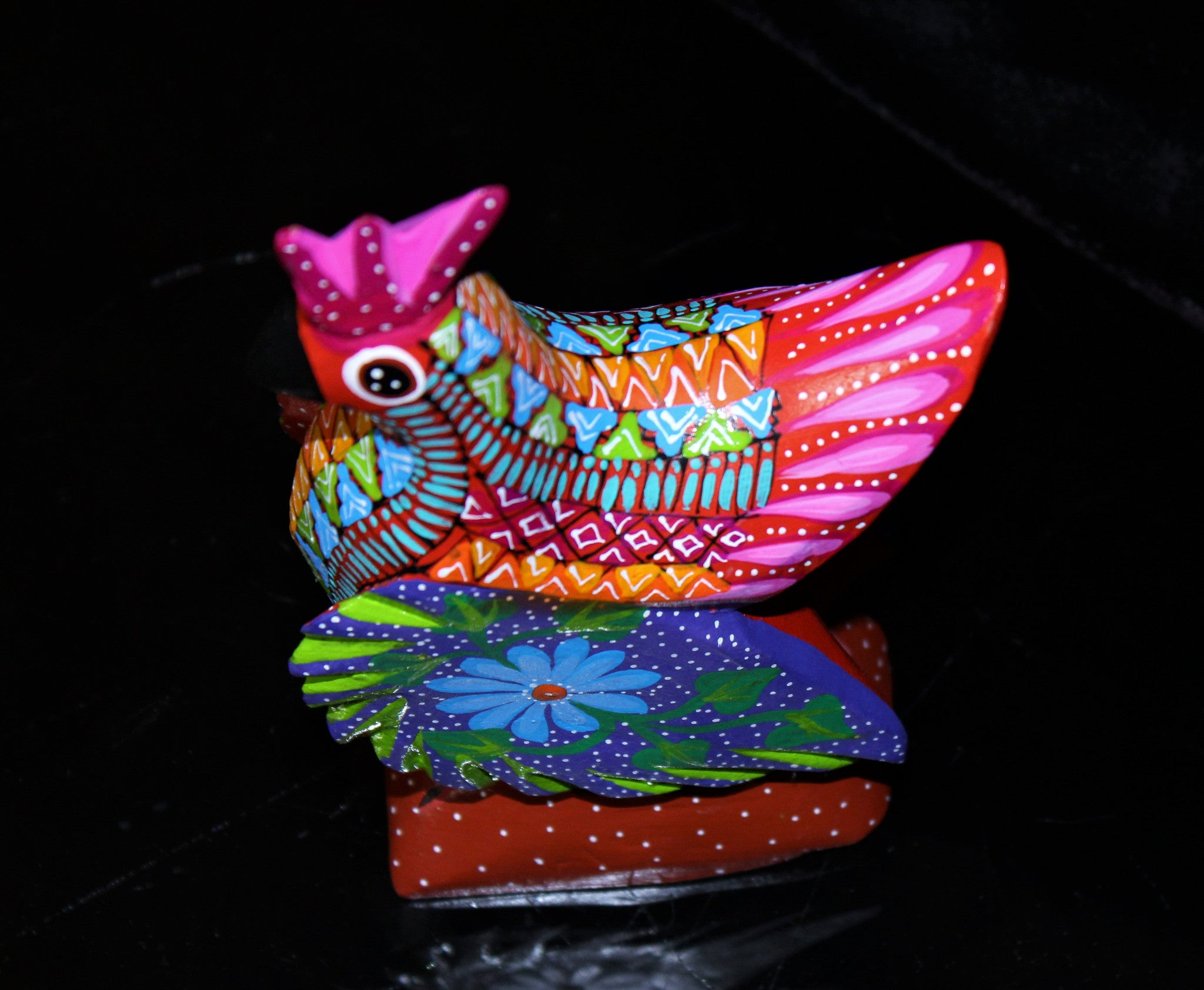 Oaxacan Carved Wood 3327---Cocky Rooster