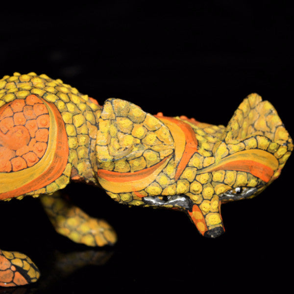 Oaxacan Carved Wood 3320--Tribus Mixes Yellow Fox