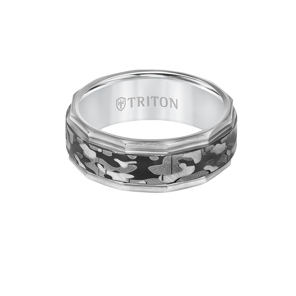 Triton MILITARY RING for Men in Tungsten Carbide with Camouflage