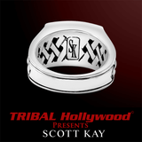 WOVEN SILVER Ring for Men by Scott Kay