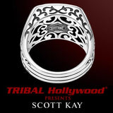 BLACK ONYX STONE Gilbert Ring in Sterling Silver by Scott Kay