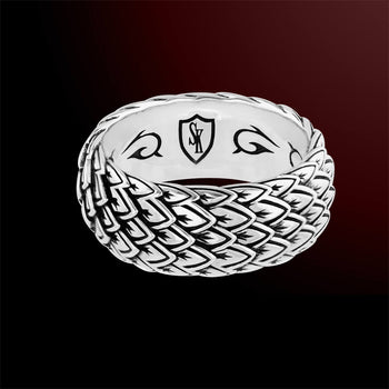 Scott Kay DRAGON SCALE Sterling Silver Mens Ring Band