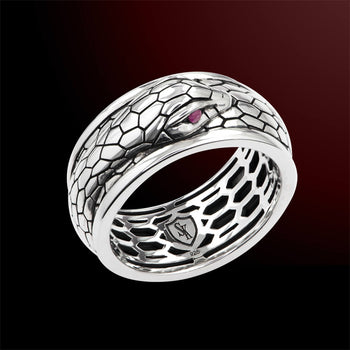Scott Kay PYTHON RING Sterling Silver Snake Ring for Men