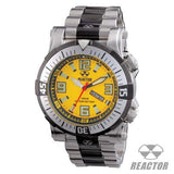 Reactor Watches POSEIDON YELLOW AND BLACK Dive Watch With 2-Tone Stainless Steel Band | Tribal Hollywood