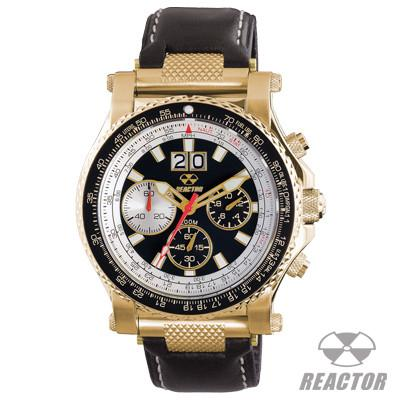 Reactor Watches Valkyrie Stainless Gold Case Pilot Watch