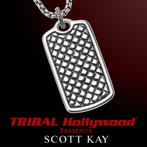 EQUESTRIAN DOG TAG Scott Kay Mens Sterling Silver Necklace