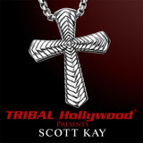 THE CHEVRON CROSS Sterling Silver Pendant and Chain by Scott Kay