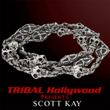 Scott Kay SKULLS AND CROSSES Sterling Silver Heavy Duty Mens Chain