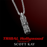 UnKaged CROSS TABLET SILVER Mens Necklace with Onyx by Scott Kay