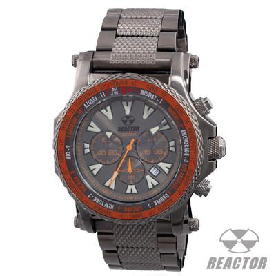 Chronograph Watch PROTON GUNMETAL World Time Reactor