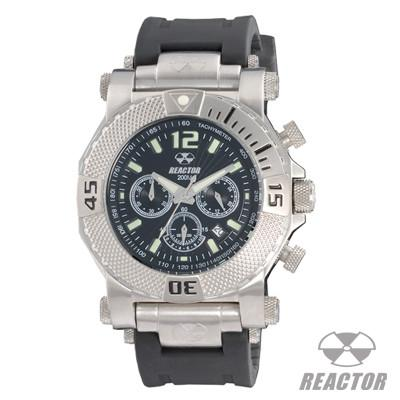 Reactor Watches NEUTRON BLACK CORAL with Rubber Strap Mens Chronograph Sports Watch | Tribal Hollywood