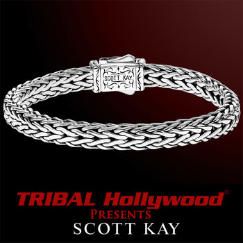 DOBERMAN Straight Edge Scott Kay Mens Sterling Silver Bracelet