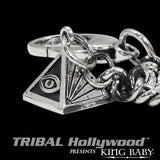 ALL SEEING EYE PYRAMID WALLET CHAIN with Cross and Wing by King Baby