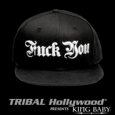 KING BABY F*** YOU HAT Black Mens Ball Cap by King Baby Studio