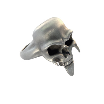STRIGOI SKULL RING Fanged Demon Skull Mens Ring by BICO Australia