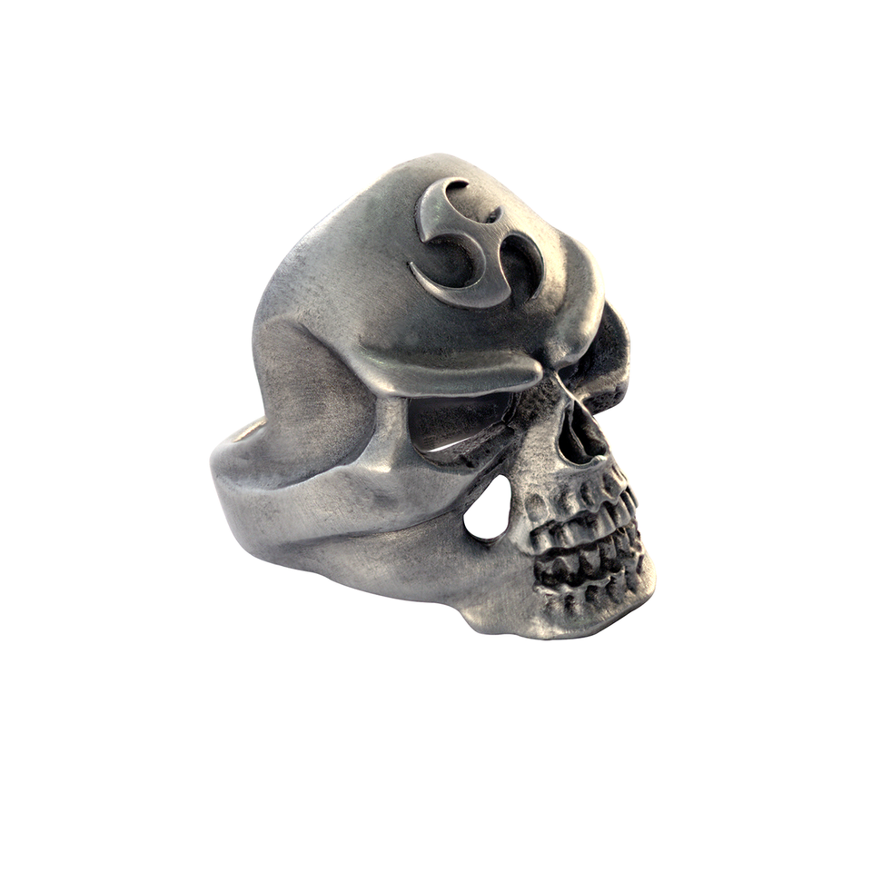 TRIAD SKULL RING Tribal Carved Mens Ring by BICO Australia