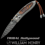 William Henry MONARCH SIERRA Desert Ironwood Silver Mens Pocket Knife