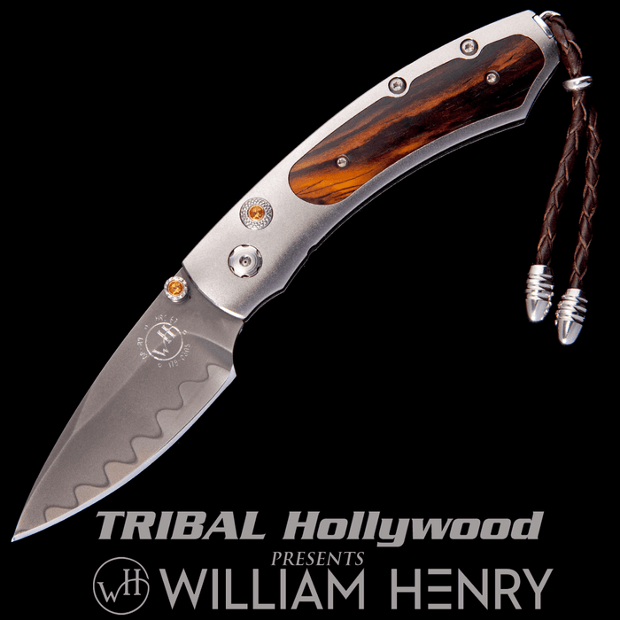 William Henry KESTREL GLENDALE Titanium and Cocobolo Wood Pocket Knife