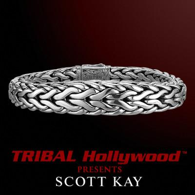 DOBERMAN Medium Tapered Edge Scott Kay Mens Sterling Silver Bracelet