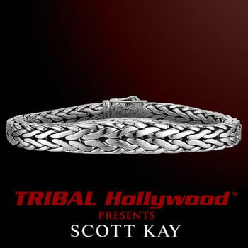 DOBERMAN Tapered Edge Scott Kay Mens Sterling Silver Bracelet